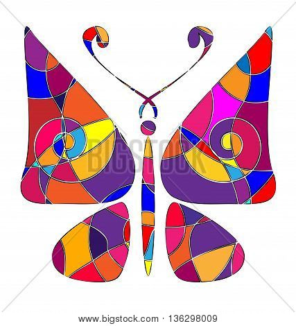 abstract image of butterfly consisting of lines