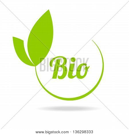 Abstract sphere green leaf logo element vector design ecology symbol. Leaf logo shape icon and green leaf logo emblem. Ecology green leaf logo organic environment, tree leaf logotype.
