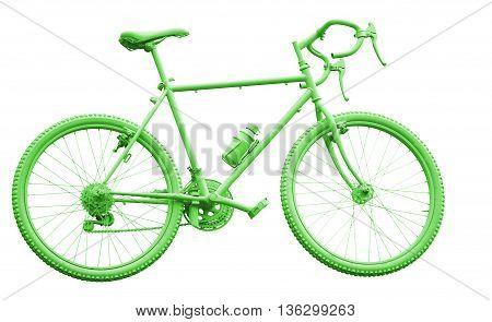 Green Sport Bike On White Background