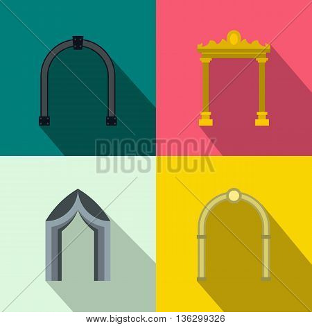 Arch banner set in flat style for any design