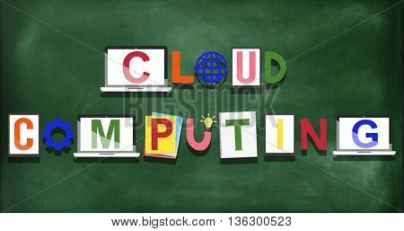 Cloud Computing Technology Online Concept
