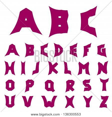 Creative alphabet letters. Original font, Vector illustration