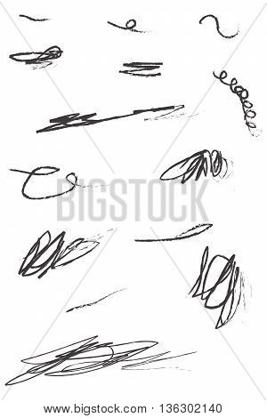Scribble Hand Drawn in Pencil single line pencil pen deutsche mark