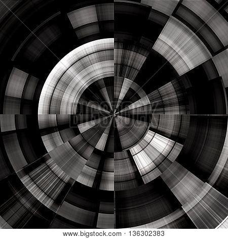 art abstract graphic spherical monochrome grunge background in black and white colors; geometric pattern
