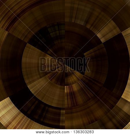 art abstract graphic spherical monochrome grunge background in brown, old gold and black colors; geometric pattern