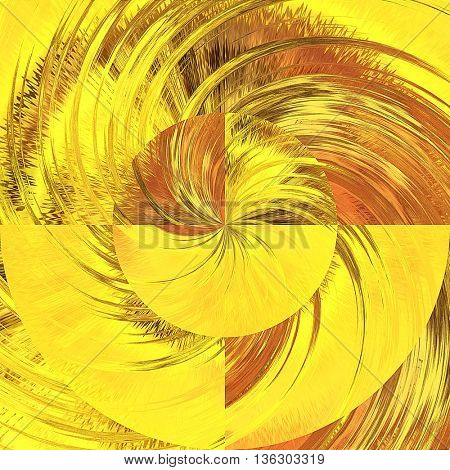 art abstract graphic spherical monochrome blurred background in yellow, red, gold, orange and brown  colors; geometric pattern