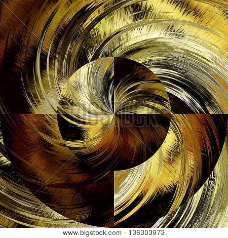 art abstract graphic spherical grunge colored background in brown, old gold and black colors; geometric pattern