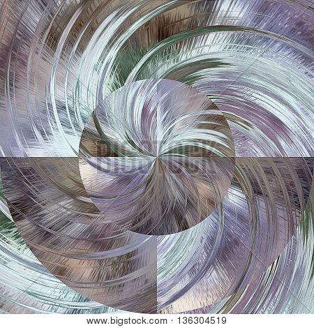 art abstract graphic spherical monochrome grunge background in lilac blue, grey and white colors; geometric pattern
