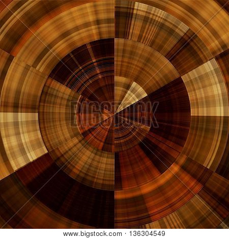 art abstract graphic spherical monochrome grunge background in brown and orange colors; geometric pattern