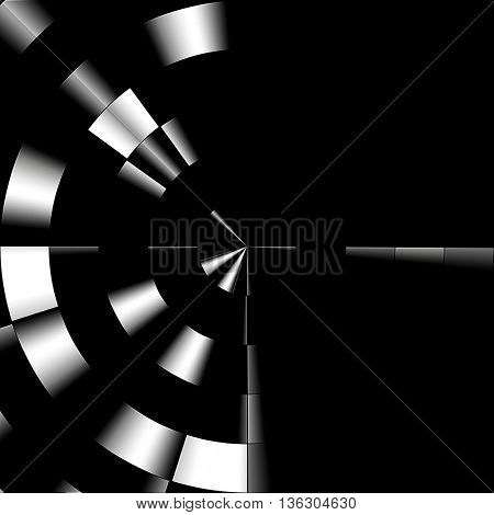art abstract graphic spherical monochrome blurred background in black and white colors; geometric pattern