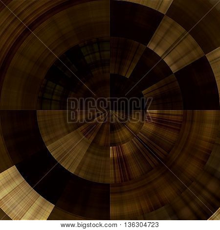 art abstract graphic spherical monochrome grunge background in brown and beige colors; geometric pattern