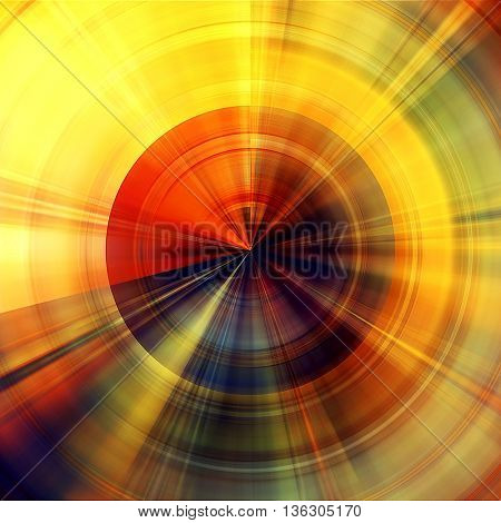 art abstract graphic spherical grunge colored background in red, orange, green, yellow, black and gold colors; geometric pattern