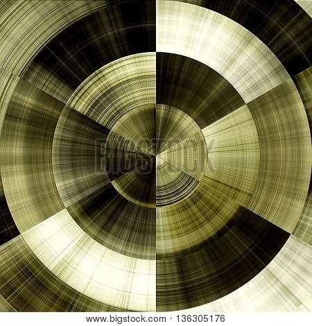 art abstract graphic spherical monochrome grunge background in old gold, olive green and white colors; geometric pattern