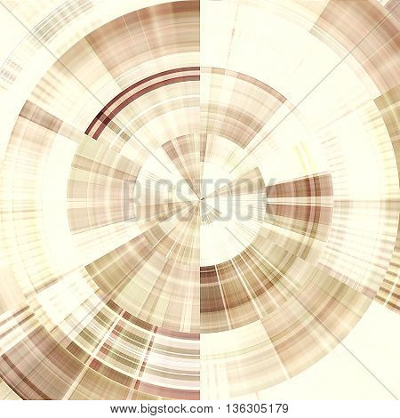 art abstract graphic spherical monochrome grunge background in beige and white colors; geometric pattern