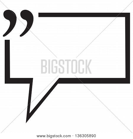 Quotation Mark Speech Bubble testimonial quote stock market data