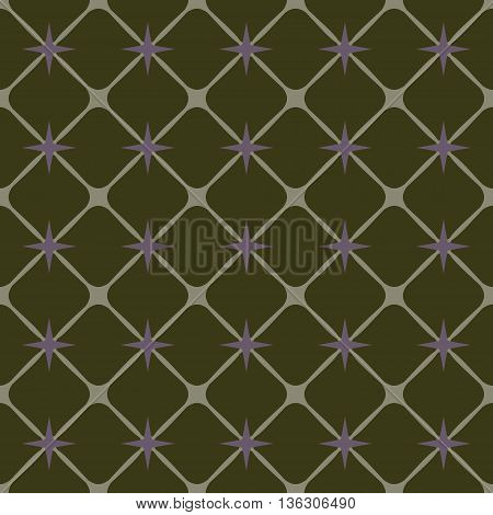 Square and star geometric seamless pattern. Fashion graphic background design. Modern stylish abstract texture Colorful template for prints textiles wrapping wallpaper website etc. VECTOR illustration