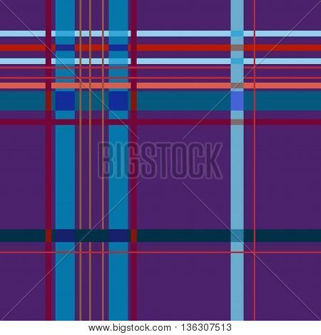 Tartan lilac seamless pattern. Fashion graphic background design. Modern stylish abstract texture. Colorful template for prints textiles wrapping wallpaper website. VECTOR illustration