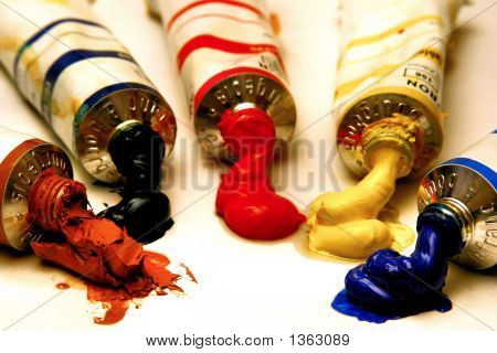 Tubes Of Oil Painting