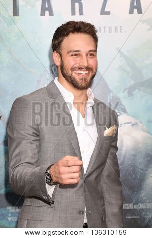 LOS ANGELES - JUN 27:  Ryan Guzman at The Legend Of Tarzan Premiere at the Dolby Theater on June 27, 2016 in Los Angeles, CA