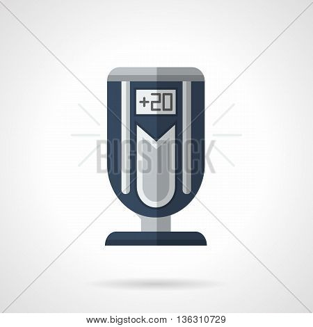 Modern portable floor air conditioner. Contemporary design of household and office appliances. Climatic technics. Flat color style vector icon.