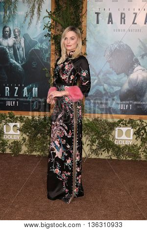 LOS ANGELES - JUN 27:  Margot Robbie at The Legend Of Tarzan Premiere at the Dolby Theater on June 27, 2016 in Los Angeles, CA