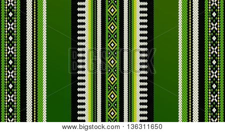 Green Theme Sadu Weaving Middle Eastern Traditional Rug Texture