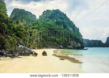 Paradise beach on tropical island. Ang Thong National Marine Park Thailand.