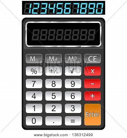 Illustration of vector calculator on white background