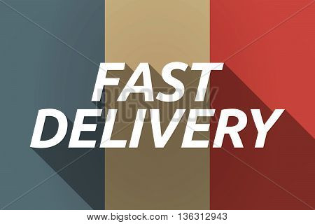Vector Long Shadow France Flag With  The Text Fast Delivery