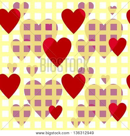 Creative patterned image in the form of square tiles