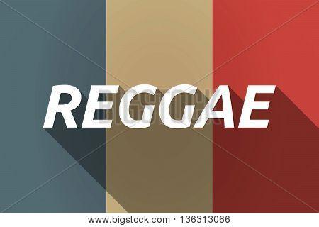 Vector Long Shadow France Flag With    The Text Reggae