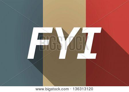 Vector Long Shadow France Flag With    The Text Fyi