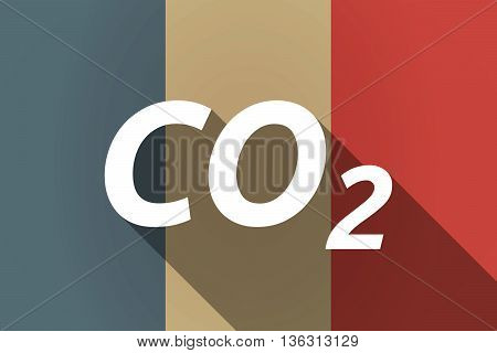 Vector Long Shadow France Flag With    The Text Co2