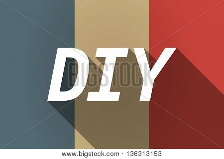 Vector Long Shadow France Flag With    The Text Diy