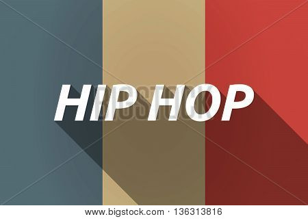 Vector Long Shadow France Flag With    The Text Hip Hop