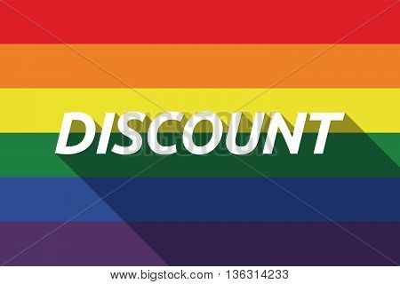 Vector Long Shadow Gay Pride Flag With    The Text Discount