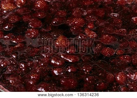 Strawberry Jam Closeup