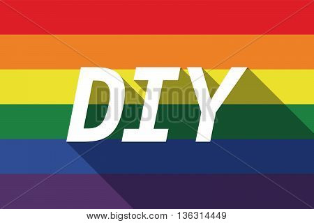 Vector Long Shadow Gay Pride Flag With    The Text Diy