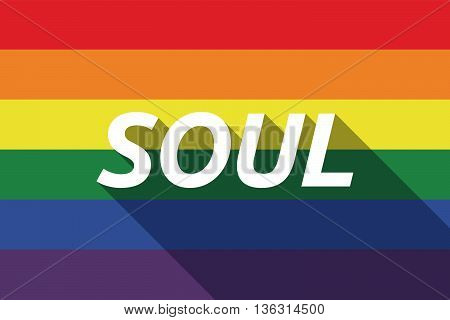 Vector Long Shadow Gay Pride Flag With    The Text Soul