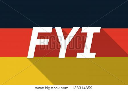 Vector Long Shadow Germany Flag With    The Text Fyi