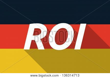 Vector Long Shadow Germany Flag With    The Return Of Investment Acronym Roi