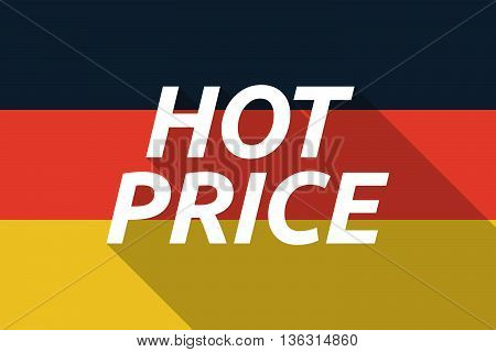 Vector Long Shadow Germany Flag With    The Text Hot Price