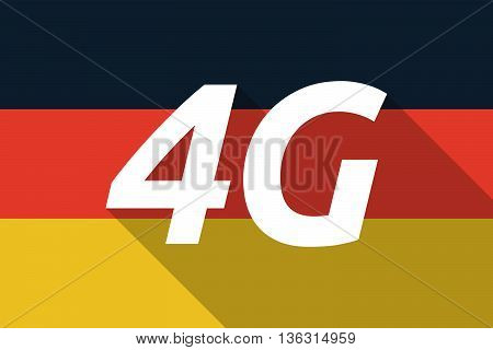 Vector Long Shadow Germany Flag With    The Text 4G