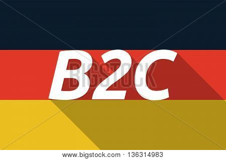 Vector Long Shadow Germany Flag With    The Text B2C