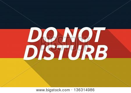 Vector Long Shadow Germany Flag With    The Text Do Not Disturb