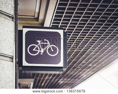 Bicycle Sign shop Store front cycling Signage