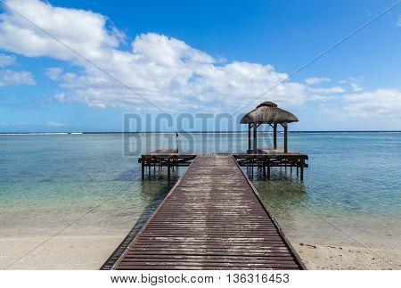 Pier Into The Ocean Flic En Flac Mauritius