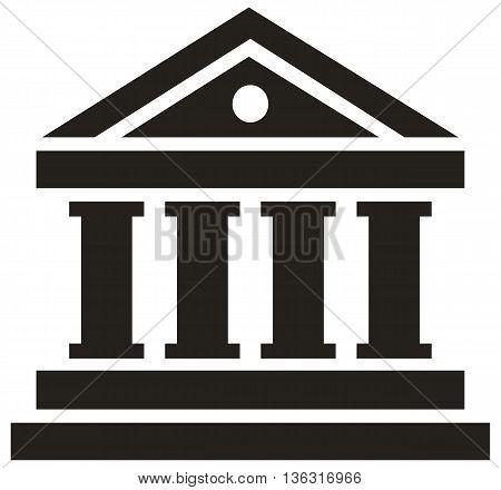Bank Vector Icon bank symbol success architectural column building
