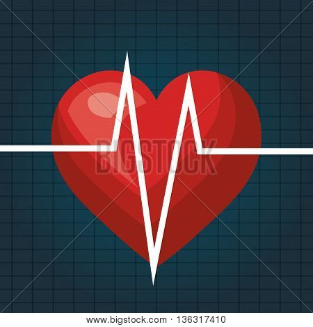 heart beat isolated icon design, vector illustration  graphic