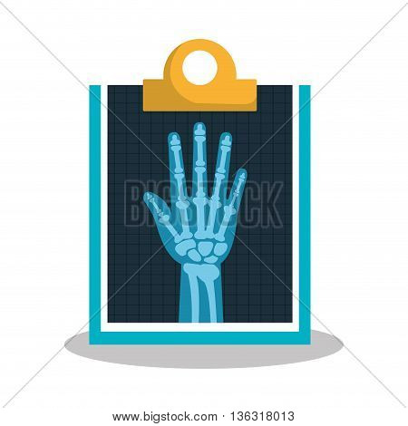hand radiography isolated icon design, vector illustration  graphic